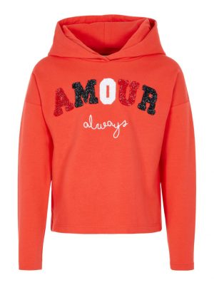 Name It Girls Cropped Sweatshirt 13167197_PoppyRed_001