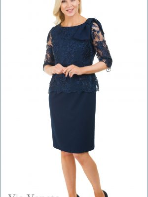 Via Veneto Navy Occasion Dress