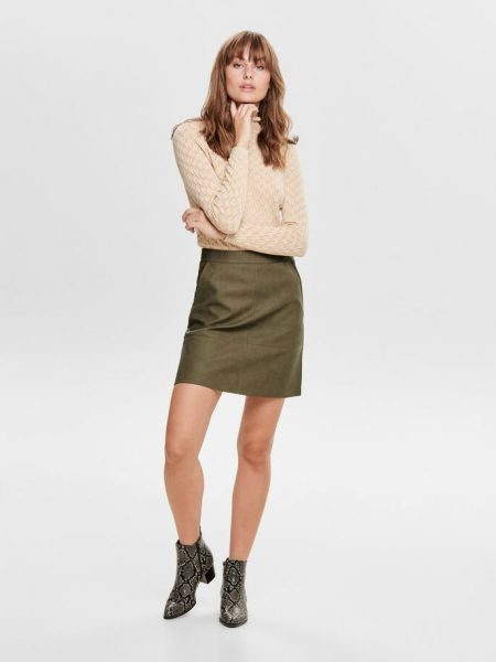 Boutique Leather Look Skirt Crocodile