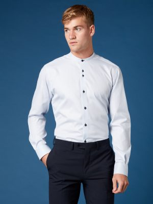 Remus Uomo Blue and White Seville Shirt