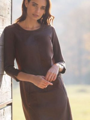 Diane Laury Suede/Leather Dress