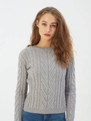 Diesel Ladies Tori cable knit pink smoke