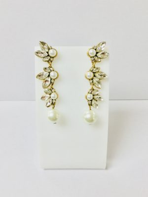 Betty & Biddy Diamanté Pearl Drop