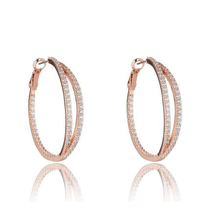 Knight and Day Alva Rose Gold Earrings