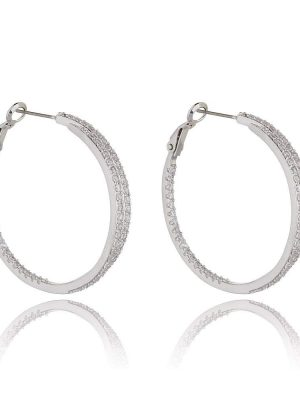 night and Day Alva Rhodium Earrings