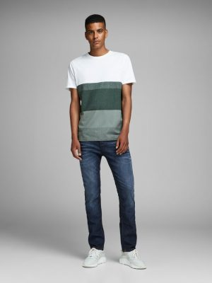 Jack & Jones Tim Slim Straight Blue Denim