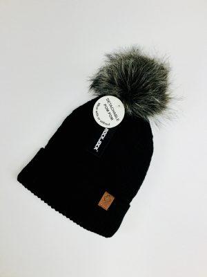 Ladies Bobble Hat (Black)
