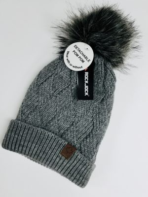 Ladies Bobble Hat (Grey)