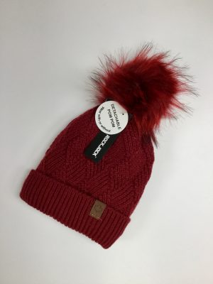 Ladies Bobble Hat (Red)