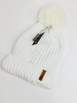 Ladies Thermal Bobble Hat (White)