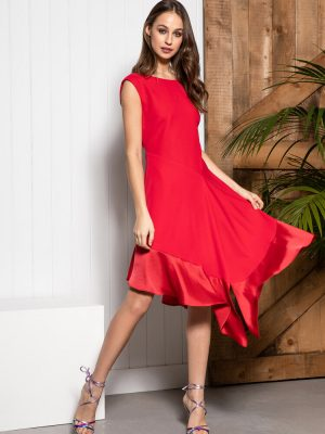 Sisters By Caroline Kilkenny Jade Dress Red