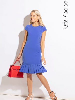 Kate Cooper Dress Cap Sleeve Blue