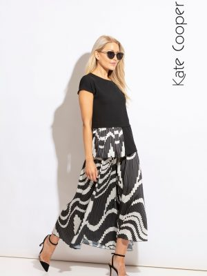 Kate Cooper 2 Piece Black & White KCS20146-20147